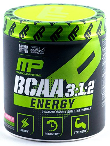 Muscle Pharm BCAA 3:1:2 Energy Sport Supplement, Watermelon, 231 Gram