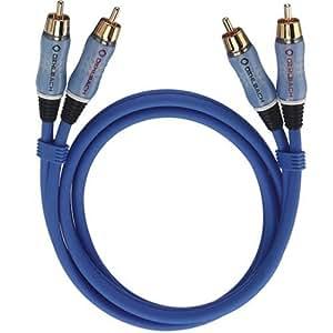 OEHLBACH BEAT! INTERLINK Blue 1m - Cable AV (2RCA, 2 x RCA) , color: Blue