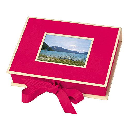 Pierre Belvedere Semikolon Small Photo Box, Ribbon Tie Closure, Pink (31506)