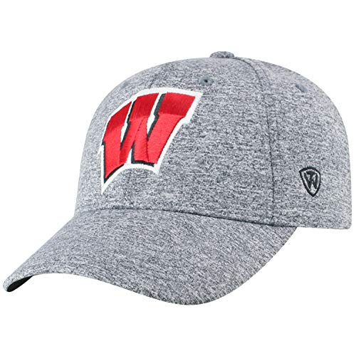 (Top of the World Wisconsin Badgers Men's Hat Icon, Charcoal, Adjustable)