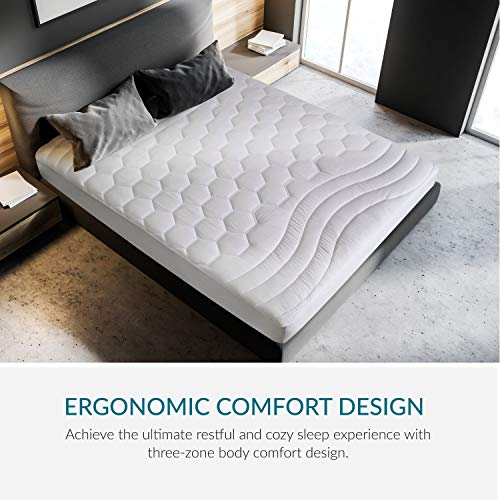 Mattress Pad Queen Size Hypoallergenic Antibacterial Breathable ultra very soft Quilted Mattress Protector Fitted sheet Mattress Cover White by Bedsure