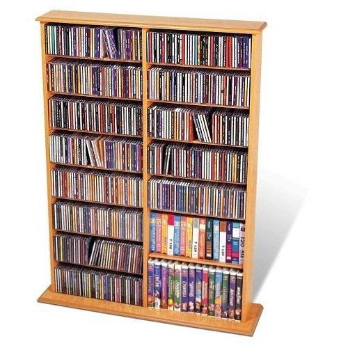 - DVD / CD / Multimedia Wall Storage in Maple - Prepac