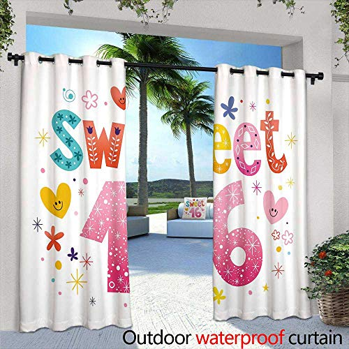 Outdoor- Free Standing Outdoor Privacy Curtain,Sunset Reine Lofoten Islands Norway,W96 x L84 for Front Porch Covered Patio Gazebo Dock Beach Home ()