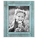 Americanflat 8x10 Rustic Picture Frame in Turquoise