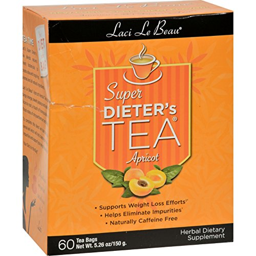 Apricot Dieters Super (Laci Le Beau Super Dieter s Tea Apricot - 60 Tea Bags - Supports Weight Loss Efforts - Helps Eliminate Impurities)