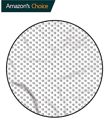 RUGSMAT Poker Non-Slip Area Rug Pad Round,Diagonal Form Ace of Diamonds for Home Decor Bedroom Kitchen Etc Round-55