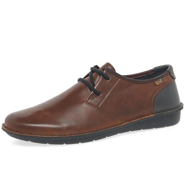 Santiago M7b, Zapatos de Cordones Derby para Hombre, Azul (Navy Blue), 41 EU Pikolinos