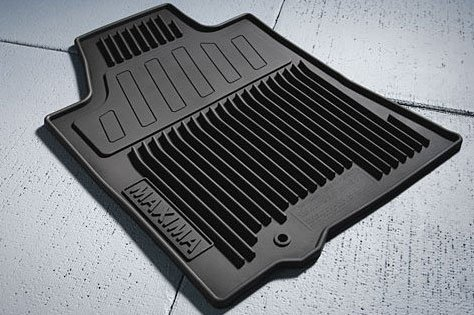 OEM Nissan Maxima Black All Weather Rubber Floor Mats ()