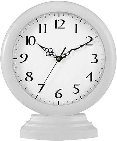 Relojes de escritorio Sala De Estar De Madera Maciza Reloj De Mesa De Café Dormitorio Mesita De Noche Reloj Jardín Reloj De Arte Casa Silencio Adornos Artesanía Regalos: Amazon.es: Hogar
