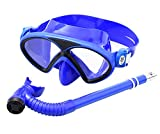Zhongkeyi Kids Silicone Scuba Swimming Swim Diving Mask Snorkel Glasses Set Anti Fog Goggles