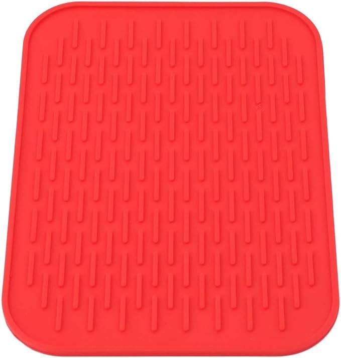 sous-Verres Nappe de Repos et de Cuisine Tapis de Table antid/érapant Rouge Sevenfly Set de Table en Silicone pour cuill/ère