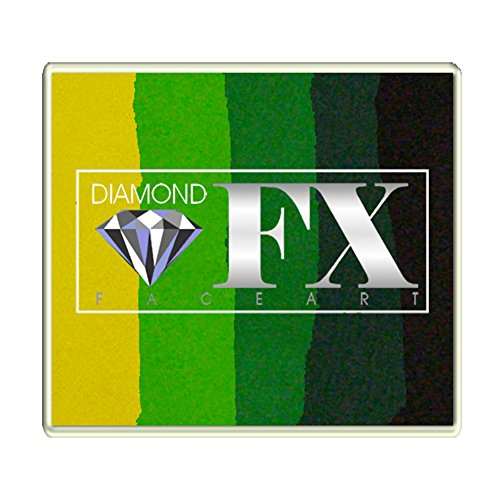 Diamond FX Split Cake, 50 gm - Large Green -