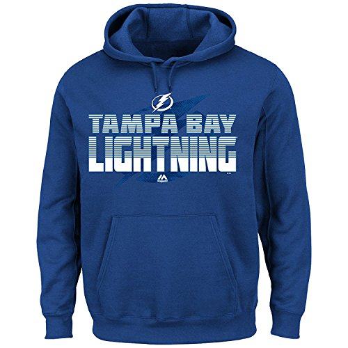 (New W/Tags Tampa Bay Lightning NHL Blue & White Top Corner Fleece Hoodie Sweatshirt Mens Big & Tall Size 2XL )