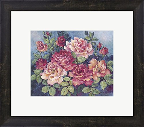 Great Art Now Victorian Roses by Barbara Mock Framed Art Print Wall Picture, Espresso Brown Frame, 17 x 15 inches Barbara Mock Roses