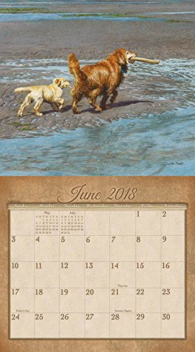 Legacy Publishing Group 2018 12-Month Wall Calendar, Goldens Photo #2