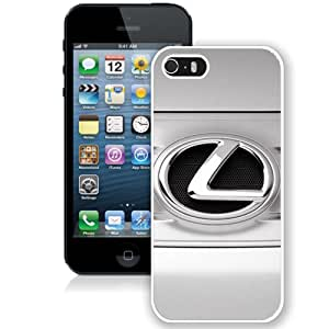 Fashionable iPhone 5s Case Design with Lexus Logo Iphone 5 5s Generation Case in White