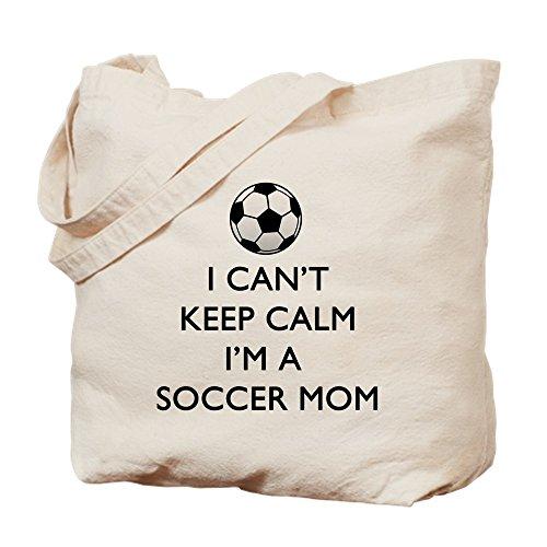 CafePress - Keep Calm Soccer Mom - Natural Canvas Tote Bag, Cloth Shopping Bag