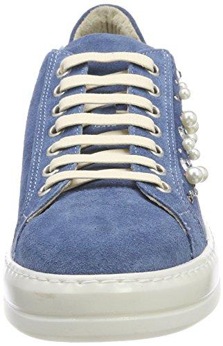 003 Bermuda Delle Manas Donne Formatori jeans Blu Di Jeans wz417nqv
