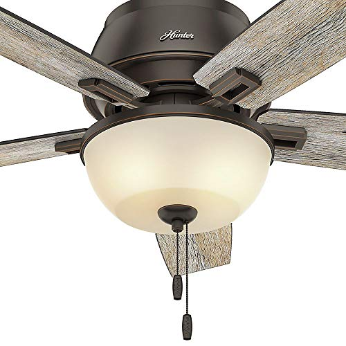 52 Onyx Bengal 4 Light Ceiling Fan With Light Kit: Hunter 53342 Casual Donegan Onyx Bengal Ceiling Fan With