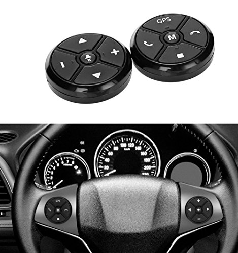Car steering wheel button remote control lights car navigation DVD / 2 din android Bluetooth wireless Universal remote control ()