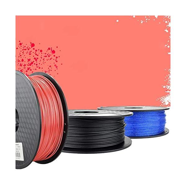 Tonglingusl 3d printer filament 1.75 pla petg carbon fiber wood abs pc pom pa metal asa hips ceramics nylon (color : red, size : free)