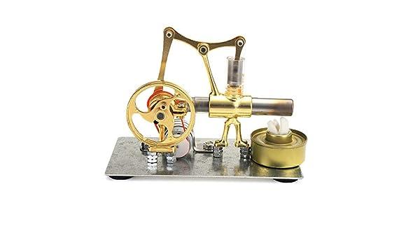 PQXOER Modelo de Motor Stirling Material aleación Solo Cilindro ...