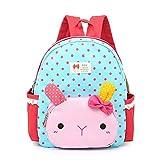 Luerme Kids Girls Backpacks Preschool Bag Children School Bag Cute Cartoon Rabbit Rucksack