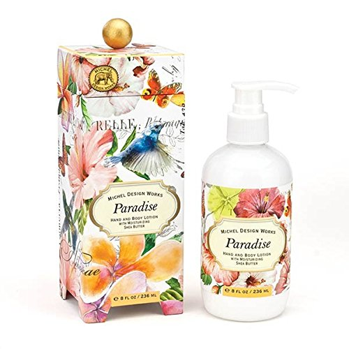 Michel Design Works Scented Hand & Body Lotion with Shea Butter, Paradise (Design Body Lotion)