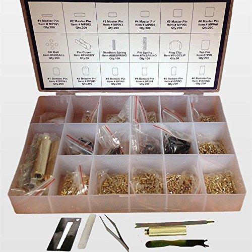 Kwikset Rekey Pins Key Kit Locksmith Rekeying Set Tool Box 6