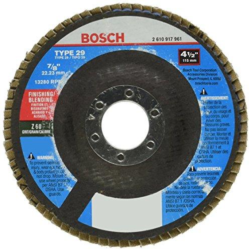 Bosch FD2945060 4-1/2 In. 7/8 In. Arbor Type 29 60 Grit Blending/Grinding Abrasive (Type 29 Flexible Grinding Wheel)