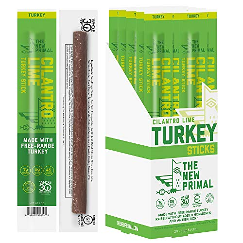 🥇 THE NEW PRIMAL Cilantro Lime Turkey Meat Sticks