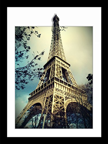 - 3D Stereoscopic Effect Illusion Eiffel Tower Poster Photos Prints on Canvas Wall Art Decoration Lanscape Painting 12×16inches (Eiffel Tower)