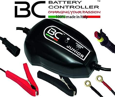 BC Battery Controller BC JUNIOR 900, Cargador de baterías y Mantenedor Inteligente para todas las Baterías de Coche y Moto 12V de Plomo-Ácido, 1 Amp