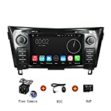 Android 5.1 Car Stereo Radio Head Unit GPS Navigation DVD Player for NISSAN ROGUE, X-Trail 2014 support Airplay Screen Mirroring/Steering Wheel Control/Bluetooth/3G Wifi/OBD2/DVR/AV-IN/Free Rearview Camera