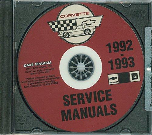 1992 & 1993 CORVETTE FACTORY REPAIR SHOP & SERVICE MANUAL On CD - All Models