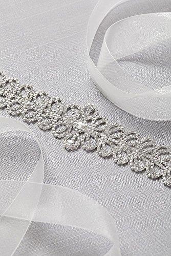 Crystal Silver Sash Link BLT9241 Style 8r8F4wq