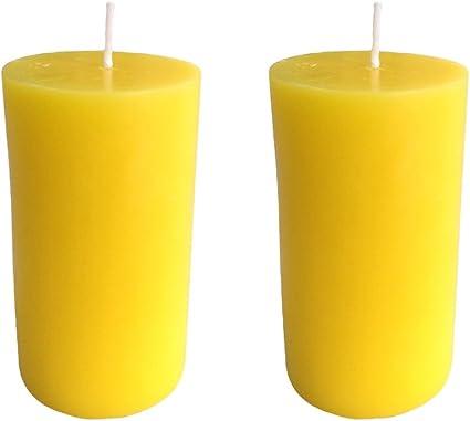 Collumino/® Lot de 6 bougies piliers Couleur unie Blanc 7 x 4,3 cm