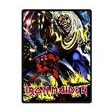 "ROCK ON! Iron Maiden Customized Cozy Fleece Blanket Bed/Sofa Throws 58""x80"""