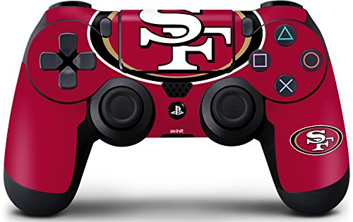 (Skinit San Francisco 49ers Large Logo PS4 Controller Skin - Officially Licensed NFL PS4 Decal - Ultra Thin, Lightweight Vinyl Decal Protective Wrap)