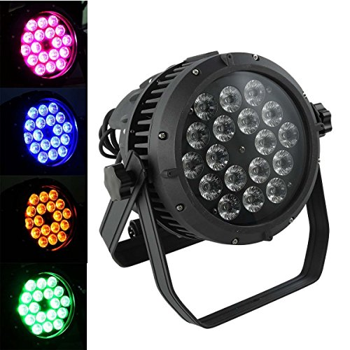 TC-Home 270W 18X15W RGBAW LED Light PAR 64 DMX IP67 Outdoor DJ Stage Show Lighting by TC-Home