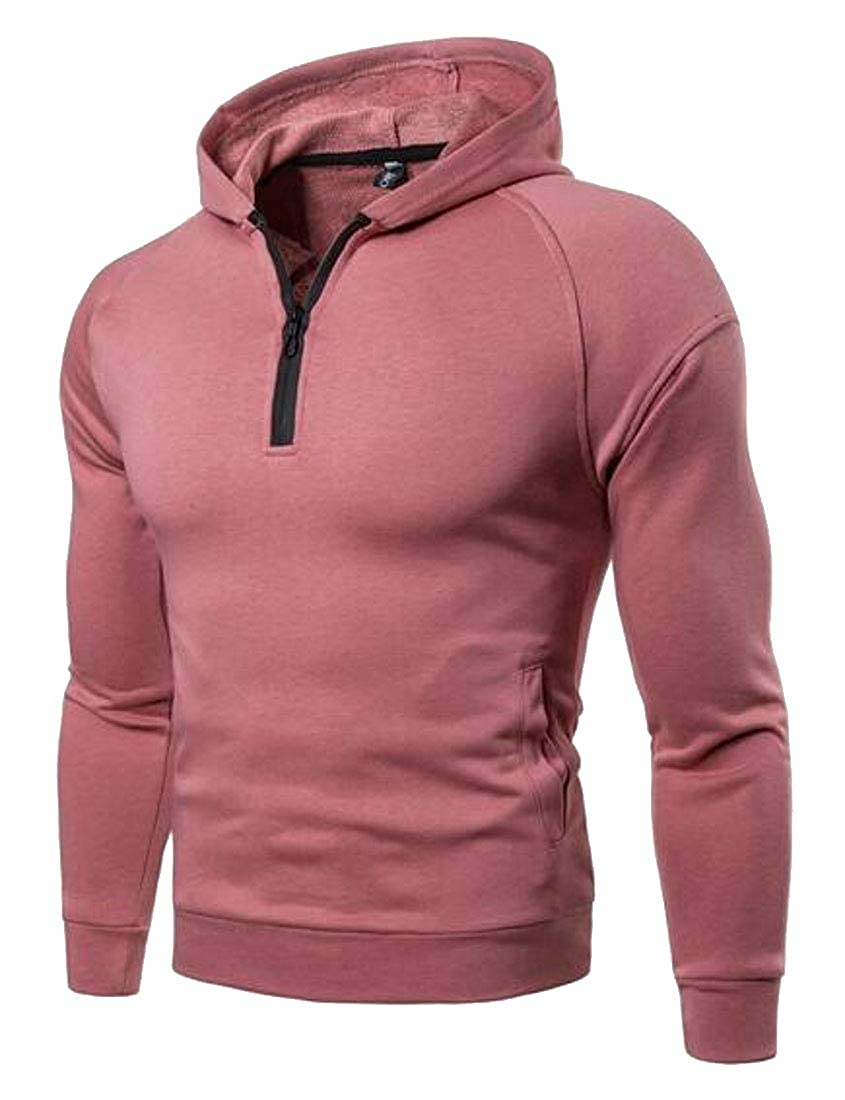 Fubotevic Mens Athletic Gym Workout Long Sleeve Casual Pullover Hooded Hoodie Sweatshirt