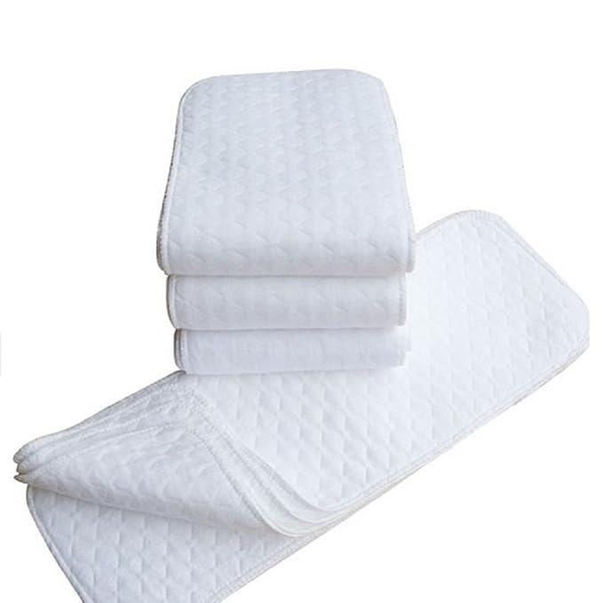 Koly 5 pcs Bebés Colchón cambiador Blanco de tela de algodón del pañal