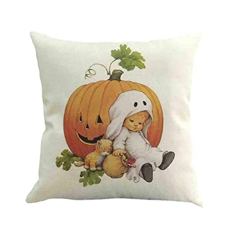 Amazon.com: Staron Halloween Funda de almohada decorativa ...