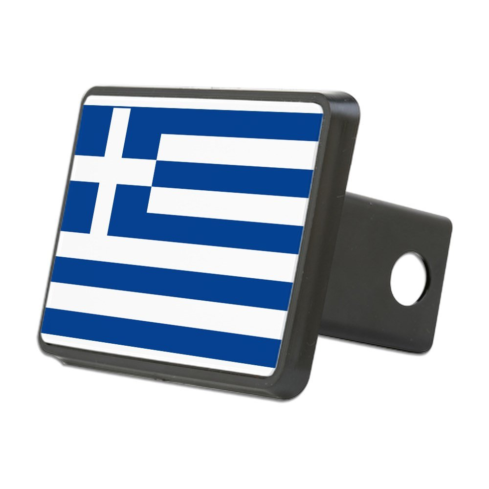 CafePress - Greek Flag - Trailer Hitch Cover, Truck Receiver Hitch Plug Insert by CafePress