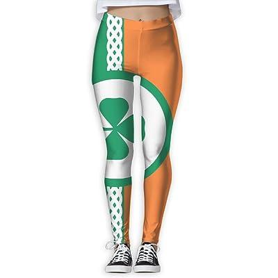EWDVqqq Girl Yoga Pant Ireland Flag High Waist Fitness Workout Leggings Pants