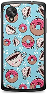 Donuts and Coffee Nexus 5 Transparent Edge Case - Bakery Collection