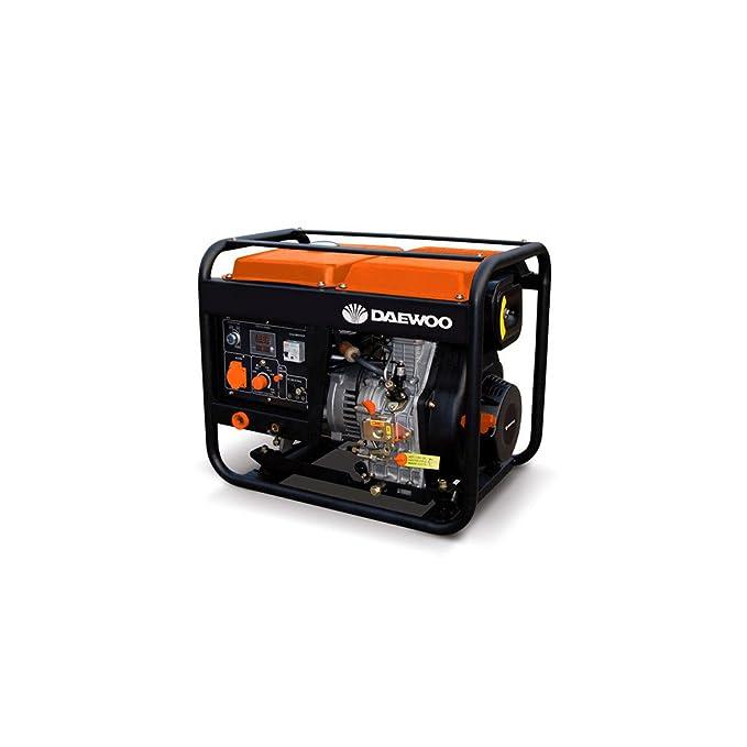 Daewoo GDAW190AC - Motosoldadora con generador a gasolina de 420 cc, 240V, 15HP con arranque eléctrico: Amazon.es: Jardín