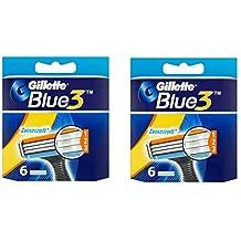 Sensor3 (Blue3) Razor Blades • 12 Cartridges [Made in Europe]