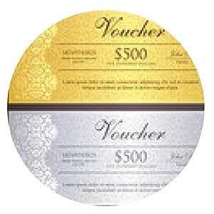 alfombrilla de ratón certificado de regalo de oro y plata de lujo en estilo vintage - ronda - 20cm