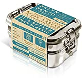 Stainless Steel Bento Box Lunch Box, A Large Metal 3 Tier Tiffin Food Container Snack Lunchbox For Boys Girls Teens Kids & Ad